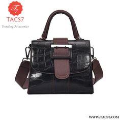 MENGXILU Fashion PU leather Handbag Ladies Crocodile Pattern Shoulder Bag Patchwork Handbags Women Famous Brands Women bag