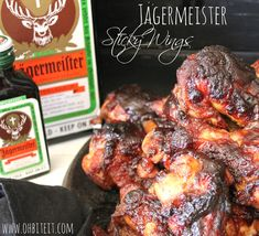 ~Jagermeister Sticky Wings!