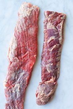 Flank steak and skirt steak are both long, odd-looking cuts of steak. Wonder if you've ever eaten either of them? If you've ever had fajitas, then chances are it was skirt steak. In most recipes, … Skirt Steak In Crockpot, Skirt Steak Recipe Oven, Grilled Skirt Steak, Skirt Steak Recipes, Crockpot Meat, Steak In Oven, Skirt Steak Tacos, Marinade For Skirt Steak, Crockpot Flank Steak Recipes