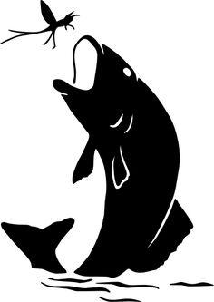 fish silhouette free | clip art