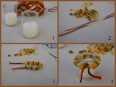 Decorare Candele Bianche : Fantastiche immagini in candele votive su