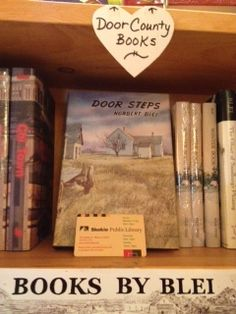 The late Norbert Blei's books displayed in a Door County shop.