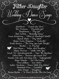 Top 20 Father Daughter Wedding Dance Songs