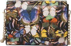 Petite besace imprimé papillon | Maroquinerie | Lollipops