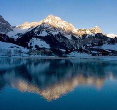 Mountain lake, Switzerland