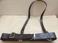 b76927b76a90 Sam browne belt + shoulder strap dark brown leather