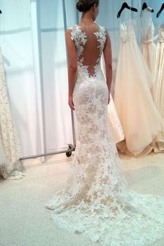 1472f0e5211 New Sexy Mermaid Wedding Dress Bridal Ball Gown Lace Custom Size Plus 6 8  10 12