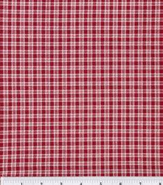 Keepsake Calico Cotton Fabric- Plaid BurgundyKeepsake Calico Cotton Fabric- Plaid Burgundy,