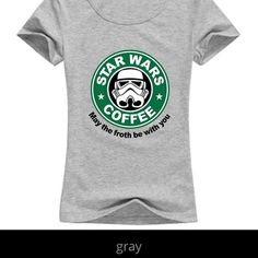 ⭐️Star Wars: May the Froth Be With You Tee⭐️  - Star Wars tee shirt.  Only selling one more at this time.  One in stock from someone who ordered but never purchased after promising.  It's okay, but have waited way too long and it is too cute to keep wrapped up and un touched!        FƖᑎᗩᒪ ᑭᖇƖᑕE.          The Haute Holly-Would Hive LLC Tops Tees - Short Sleeve