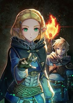 Game art 852517404445047829 - Zelda and Link (The Legend of Zelda) Source by The Legend Of Zelda, Legend Of Zelda Memes, Legend Of Zelda Breath, Anime Wolf, Anime Outfits, Weiblicher Elf, Manga Posen, Botw Zelda, Elfa
