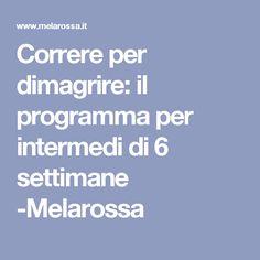 Correre per dimagrire: il programma per intermedi di 6 settimane -Melarossa