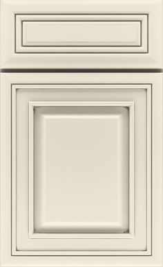 Diamond Cabinets. Coconut with ash gray piping