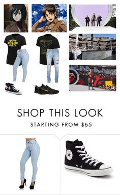 """Ringside For Dad (Seth Rollins) At WrestleMania 31! - Eren and Mikasa (Start in Comments)"" by sammiearose ❤ liked on Polyvore featuring beauty, Converse and Balmain"