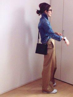 mayumiさんのパンツ「追加 セルヴィッチワイドチノパンツ◆」(Deuxieme Classe|ドゥーズィエムクラス)を使ったコーディネートです。