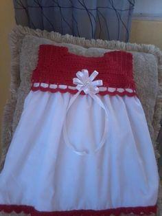 vestido tejido y a la tela de nina
