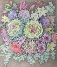 #originalartwork, #ornamentalcabbage, #colorpencil, #colorpencildrawing, #flowers, #floral, #ornamentalcabbage, #coloredpencil #drawing #asters, #lilies, #whitestargazerlily, #pinkstargazerlily, #babyblueeucalyptus, #bouquet,#ornamental cabbage #drawingideas Ornamental Cabbage, Lily Bouquet, Framed Prints, Canvas Prints, Stargazing, Lilies, Watercolor Flowers, Pencil Drawings, Colored Pencils