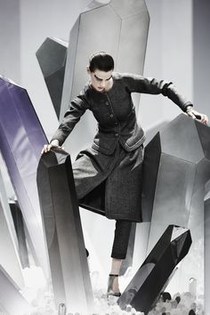 Saskia de Brauw in Chanel, Fall 2012 photographed by Paul Maffi for 31 Rue Cambon by Chanel, Spring/Summer 2012
