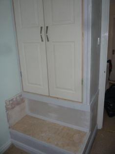 Over Wardrobe Storage bed, wardrobe and shelves built over stair box | bedroom