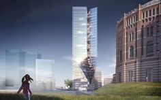 Competition Entry: Pichler & Traupmann Fuses Two Axis to Envision Vienna High-Rise