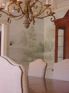 Pure Style Home: Grisaille Murals & Wallpapers