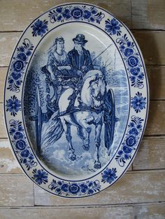 Vintage Delft Royal Sphinx By Boch Plaque by HighPointFarm2010, $225.00