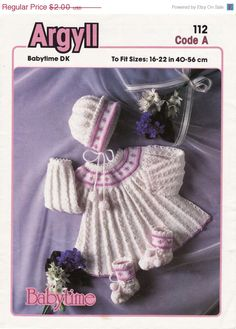 Summer Discount Vintage PDF Baby Knitting Patterns by vintagescot,