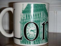 Coffee Mug - Starbucks 2002 City Collector Series London Big Ben. #Starbucks
