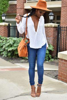 "ecstasymodels: "" Bronzy Vibes  Top ♥ ShopAkira → Jeans ♥ Zara → Bag ♥ Zara → Shoes ♥ SaboSkirt → Necklace ♥ Aldo Fashion Trend by Queen's Playground """