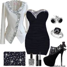 Sexy black dress with bling my fashion fashion, dresses и fashion outfits. Night Outfits, Sexy Outfits, Cool Outfits, Fashion Outfits, Womens Fashion, Fasion, Amazing Outfits, Fashion Fashion, New Years Outfit