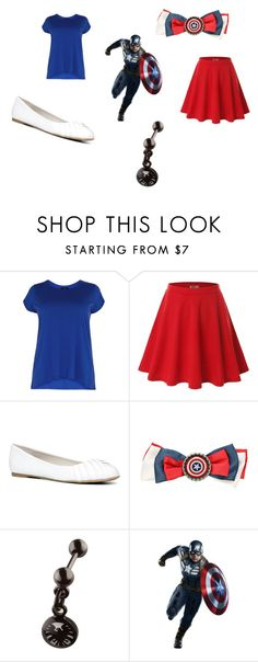 """Captain America"" by princess-accitia on Polyvore featuring Doublju, ALDO and York Wallcoverings"