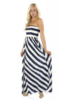 Navy Stripe Maxi ($42.00) #stripes #maxi #maxidress #longdress #sophieandtrey #freeshipping #cute #trend #spring #love #outfit #ootd #fashion #boutique #clothing