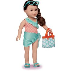 """My Life As 18"""" Beach Vacationer Doll, Brunette"""