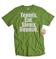 Tennis t shirt Eat Sleep Tennis Repeat Tshirt funny sports tee shirt clothing Christmas gift women men