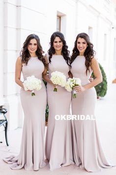 0bea1e4c695 Spaghetti Straps Lace Satin Bridesmaid Dresses Skirt Train Lace ...