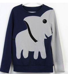 Elephant pattern sweater. i don't know why but it's just so cute:)