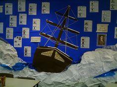 Love this ship! Teaching Displays, Class Displays, School Displays, Classroom Displays, Ks2 Classroom, Classroom Themes, Primary Classroom, Ks2 Display, Science Fair Display Board