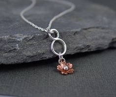 Simple Cherry Blossom Necklace