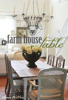 DIY:: Beautiful Farm House Table Tutorial by Dear Lillie