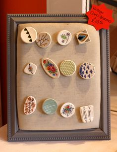 vintage china brooches