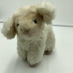 "Baby Gund Vintage Lamb Sheep Plush Rattle Soft Toy 1988 Stuffed Animal 8"" #GUND"
