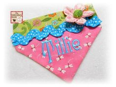 Dog Bandana TILLIE Sizes large or xlarge by Theembroideryroom, $16.00