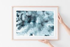 Homedecore Abstract art watercolor painting in blue Watercolor art Abstract Watercolor, Abstract Wall Art, Watercolor Illustration, Watercolor Paintings, Watercolour, Cheap Wall Art, Blue Wall Decor, Leaf Art, American Art