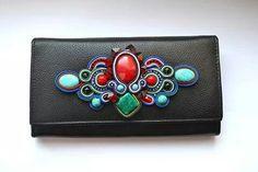 . Diy Bow, Soutache Jewelry, Beaded Purses, Shibori, Clutch Bag, Embroidery, Beads, Womens Fashion, Bedding