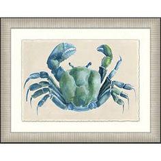 Modern Crab Framed Art II