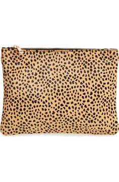 Sole Society 'Dolce' Genuine Calf Hair Clutch available at #Nordstrom
