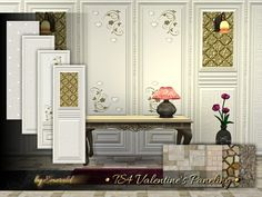 The Sims Resource: Valentine's Paneling by emerald • Sims 4 Downloads
