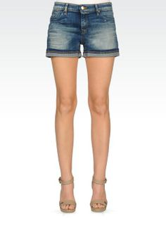 Bermuda Donna Armani Jeans - SHORTS IN JEANS VINTAGE WASH Armani Jeans Official Online Store