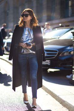 #CEEC #CC How Fashion Editors Style Their Winter Denim via @WhoWhatWearAU
