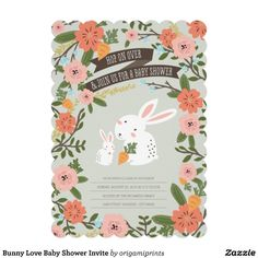 758 best baby shower invitations images on pinterest baby shower bunny love baby shower invite filmwisefo