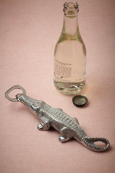 Alligator Bottle Opener from BHLDN ~ great for FL weddings!